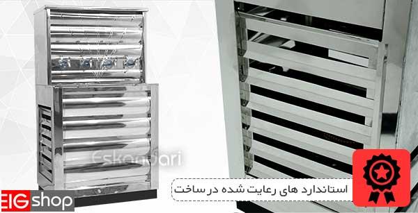 استاندارد های مورد استفاده در آبسردکن صنعتی چهار شیر