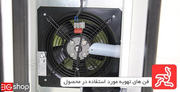 فن های تهویه پیشرفته دستگاه جوجه کشی شترغی 64 تایی EIG