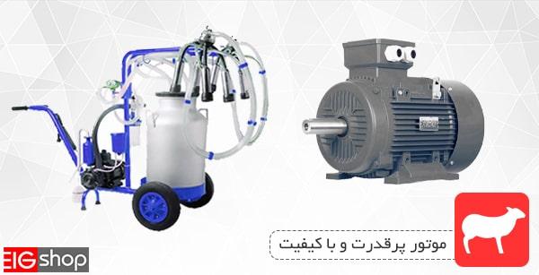 موتور پرقدرت دستگاه شیردوش گوسفند دو واحد