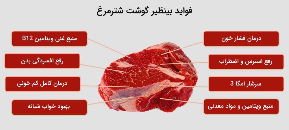 خواص و فواید گوشت شترمرغ