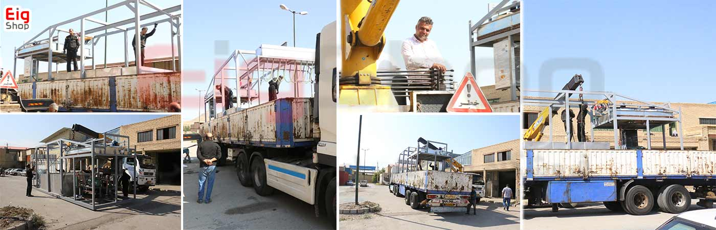 ارسال دستگاه کارخانه یخ به استان کرمان - ارزوئیه