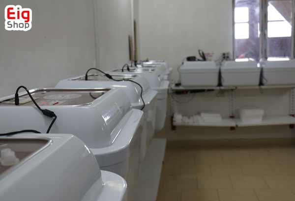 اتاق تست دستگاه جوجه کشی در کارخانه - فروشگاه اینترنتی eig-shop